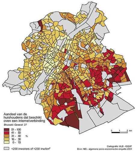 Kaart Brussel: Internet verbinding