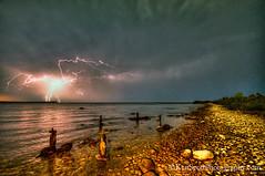 Lake Michigan ... July 4th fireworks! photo by Ken Scott