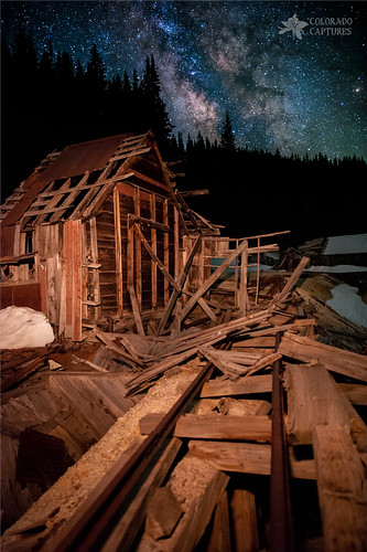 Mountain Mining Under Milky Way Skies photo by Mike Berenson - Colorado Captures