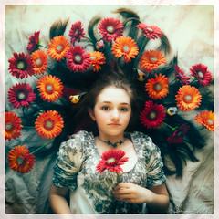 Olivia with Flowers in Spring photo by irene liebler