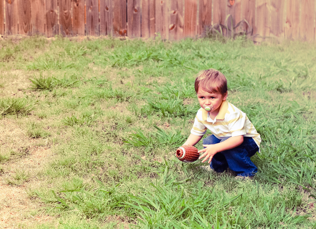 Chase playing football