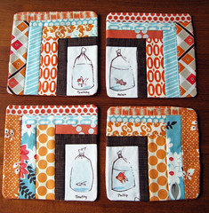 Goldfish in Bags Coasters photo by elnorac