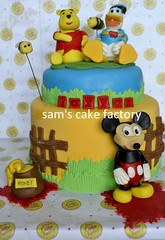 Micky Mouse Club House Cake photo by Sam's Cake Factory