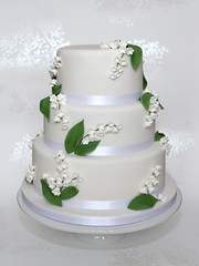 Lily of the Valley Wedding Cake photo by madebymariegreen