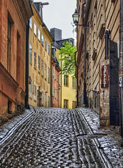 """Cobblestone Street"" in Gamla stan - Stockholm photo by Coldpix"