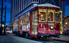 Street Car on Canal St., New Orleans photo by Darren Neupert