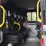 Amy in the fire engine<br/>08 Jul 2012