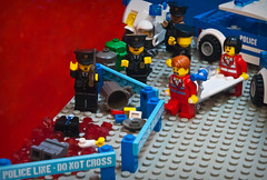 LCPD puzzled by murder. photo by The Brick Zombie