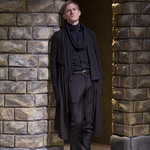 Hamlet (Scott Parkinson) in HAMLET at Writers' Theatre. Photo by Michael Brosilow.