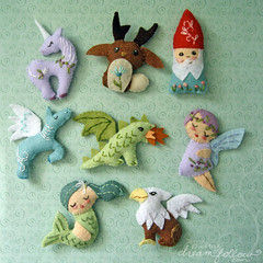 mini felt mythical creatures photo by merwing✿little dear