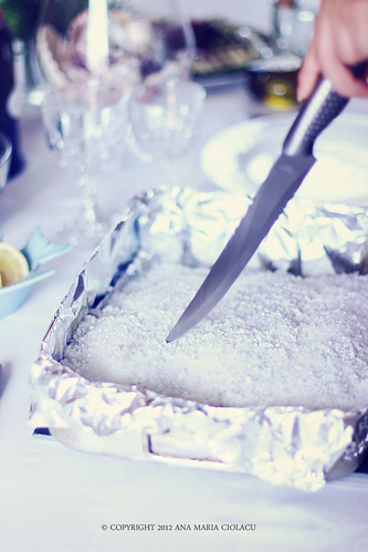 Chefal la cuptor in crusta de sare 3