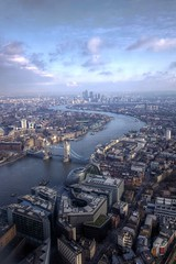 view from shard, london photo by mariusz kluzniak