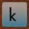 cardboard tile letter k
