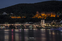 Heidelberg Old Town with Castle photo by Andy Brandl (PhotonMix.com)