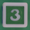 Phase 10 Dice Green number 3