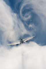 Martinair MD-11 Breaking through the clouds photo by Tim de Groot - AirTeamImages