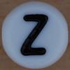 White Bead letter Z