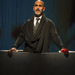 Kareem Bandealy (Brutus) in JULIUS CAESAR at Writers Theatre. Photo by Michael Brosilow.