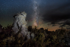 The Milky Way and Meteorites Over the Tufa Tower photo by Matt Granz Photography