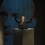 Kareem Bandealy (Brutus) in JULIUS CAESAR at Writers Theatre. Photo by Michael Brosilow.