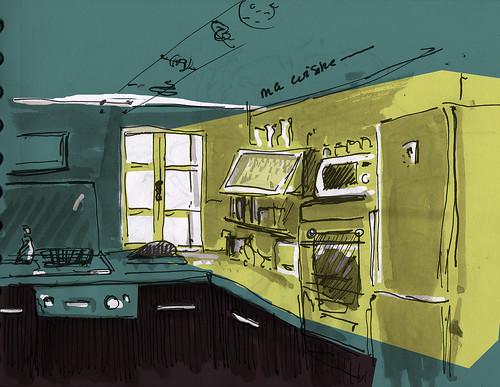 Scène intérieur  - Cuisine