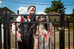 Len and Dennis — Zombie Bride & Groom photo by gomarky