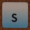 cardboard tile letter s