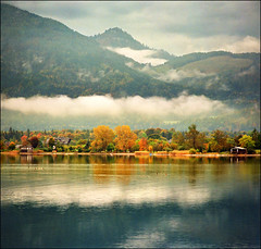 "Autumn on Wolfgangsee ..:)  view larger size: please press ""L"" photo by Katarina 2353"