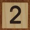 Calendar Wood Block number 2