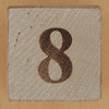Wooden Brick Number 8