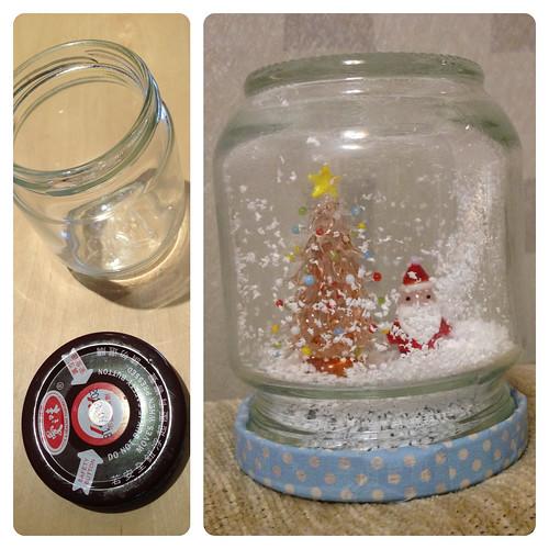 醬瓜瓶變身聖誕雪球Snow Ball