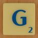 Scrabble Blue Letter G