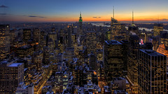 Snow Covered Manhattan Sunset photo by 1982Chris911 (Thank you 2.500.000 Times)