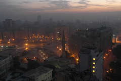 Street lights' lava glow around Tahrir Square [Explored] photo by Frank Schulenburg