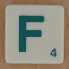 Scrabble Green Letter F