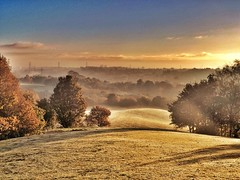The rising of the mist one autumn morning over the rolling hills. photo by Broo_am (Andy B)
