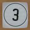 Golf Dice Number 3