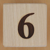 Wooden Brick Number 6