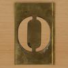 Brass Stencil Letter O