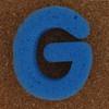 Sponge Letter G