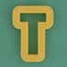 Pastry Cutter Letter T