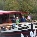 luxury barge Prosperite cruising the Burgundy canal
