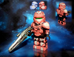 "LEGO Halo 4 - Infinity Slayer Spartan IV ""Warrior"" Red Team Variant photo by MGF Customs/Reviews"