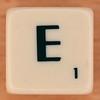 Scrabble Scramble Letter E