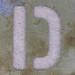 Stencil Letter D
