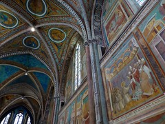 Frescoes by Giotto in the Basilica of San Francesco d'Assisi,  Assisi, Italy photo by Frans.Sellies
