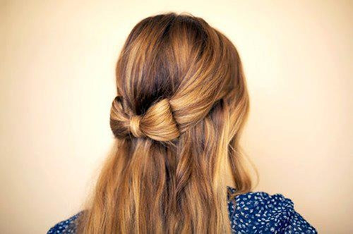 Awe Inspiring Super Cute Bowed Hair Hairstyles Uniwigs Official Blog Hairstyles For Women Draintrainus