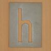 Waterproof card stencil letter h
