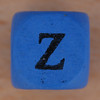 Coloured bead letter Z
