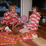 Amy helps Emma open her presents<br/>19 Jan 2013
